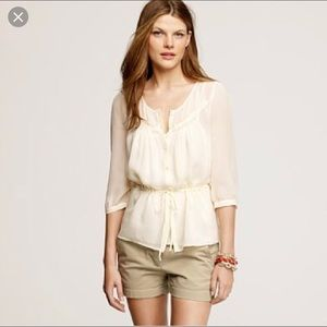 J crew Beatrice Top 100% silk size 2